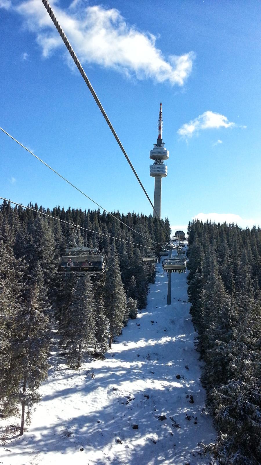 Тв кулата на откриването на сезон 2014 от лифта на Стойките